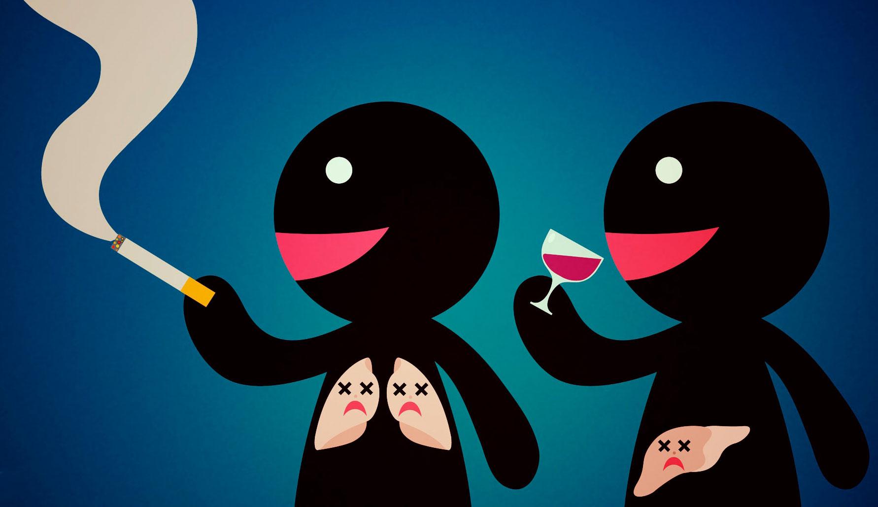 Отказаться от курения и спиртных напитков